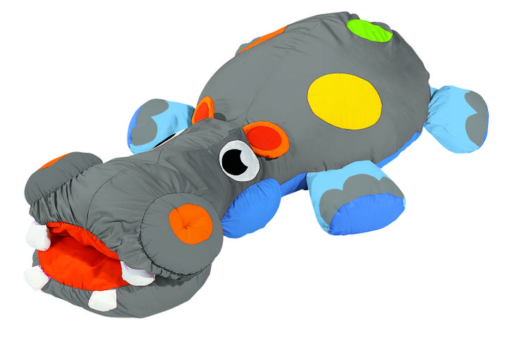 """""""Sam the Hippopotamus"""" Giant Floor Cushion from #Wesco. This would make the perfect gift for any #toddler!"""