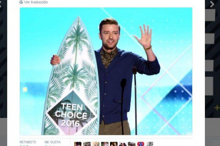 Teen Choice Awards: control de armas y Timberlake se roban el show