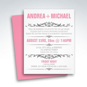 20 best Wedding invitations images on Pinterest Reception only