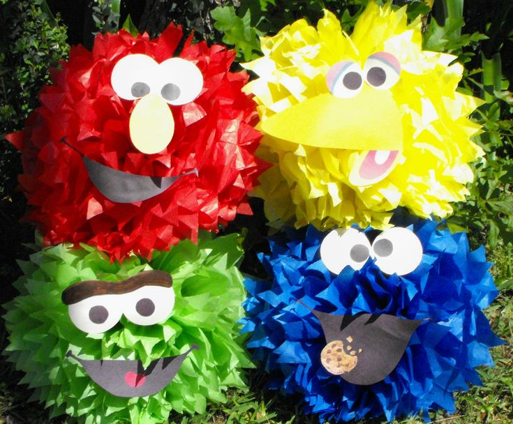 Poms for Birthday party decorations- Cost $1 each using tissue paper ...