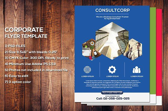 Corporate Flyer Template by meisuseno on @creativemarket