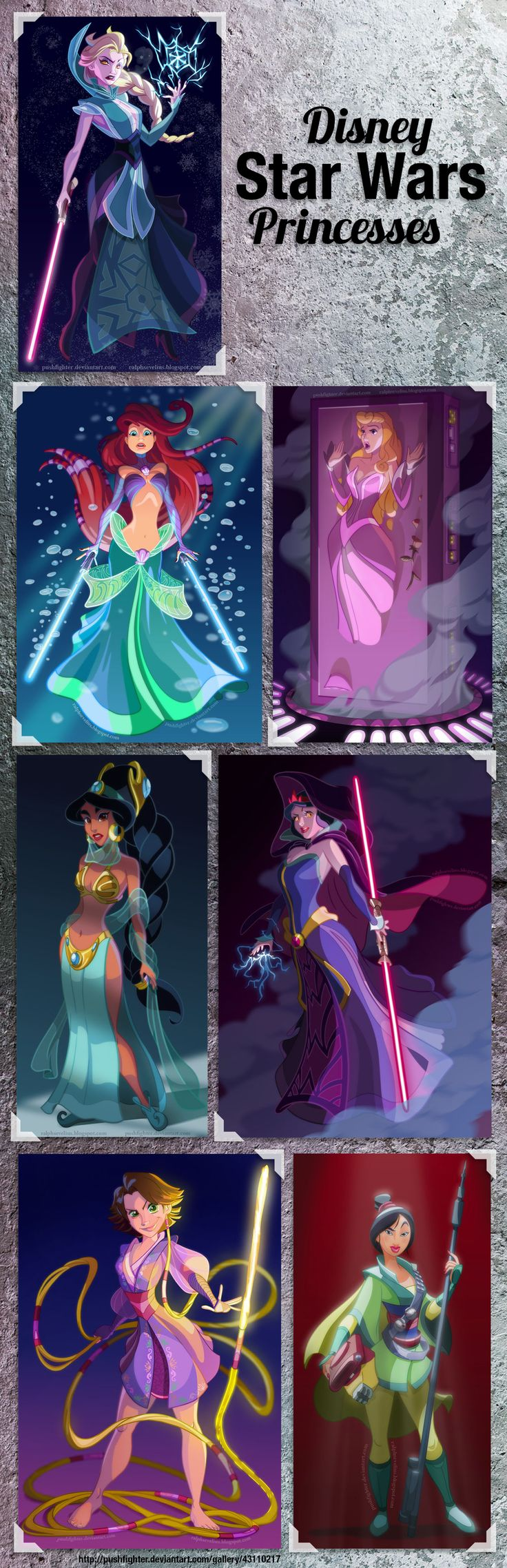 [Disney Star Wars Princesses] - artwork from http://pushfighter.deviantart.com/gallery/43110217