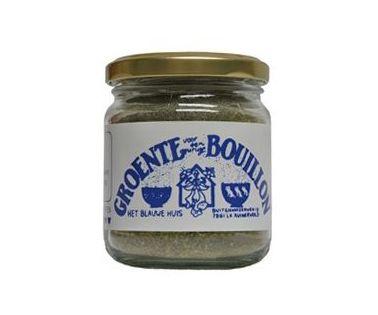groente-bouillon-het-Blauwe-Huis €2.95  Biologische groente-bouillonpoeder van Het Blauw Huis. Zonder zout. Met Demeter keurmerk! Inhoud: 60 gram.  Deze bouillonpoeder is helemaal vrij van gistextract, zout, olie, soja en andere rommel.