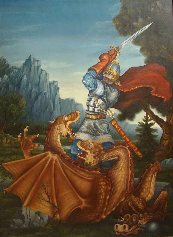 бой со змеем горынычем картинки