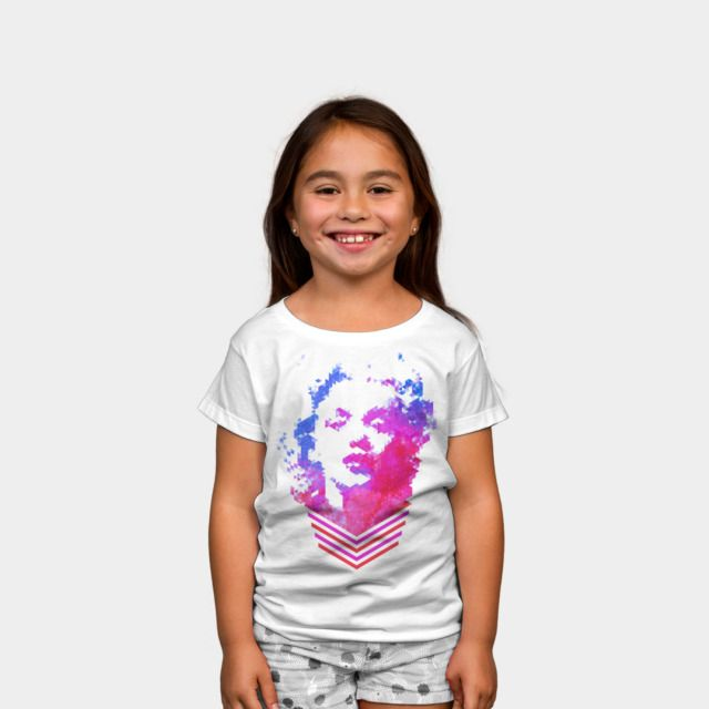 Marilyn Kids Tee by Fimbis available as a T Shirt, Phone Case, Tank Top, Crew Neck, Pullover, Zip.  #fashion #MarilynMonroe #portrait #hollywood #movies #iconic #geometric #kidsfashion #children