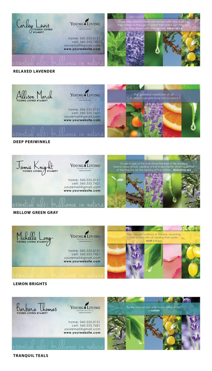 55 Best Business Images On Pinterest Young Living Business Cards
