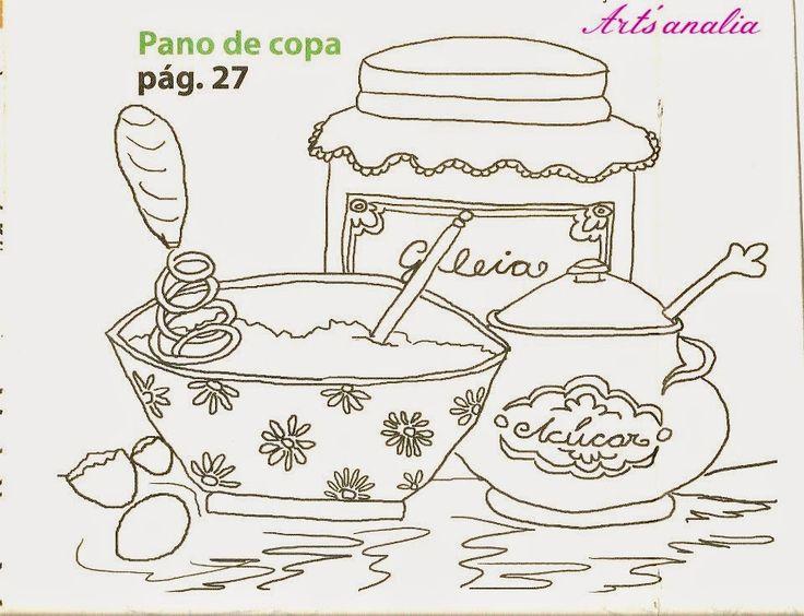 Riscos para pintar potinhos de geleia,de conservas e de mel
