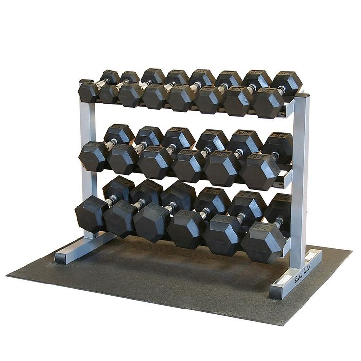 Amazon.com : Body Solid GDR363-RFWS Dumbbell Rack with Rubber Dumbbells