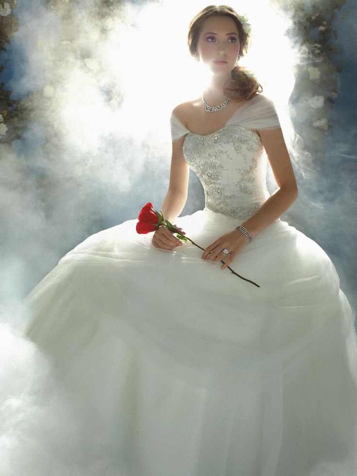 Alfred Angelo Disney Wedding Dresses | Disney Belle Off-Shoulder Wedding Dress By Alfred Angelo-www ...