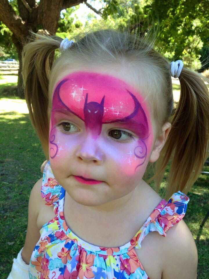 Pink Bat Crowns Face Paint Pinterest Painting Designs And