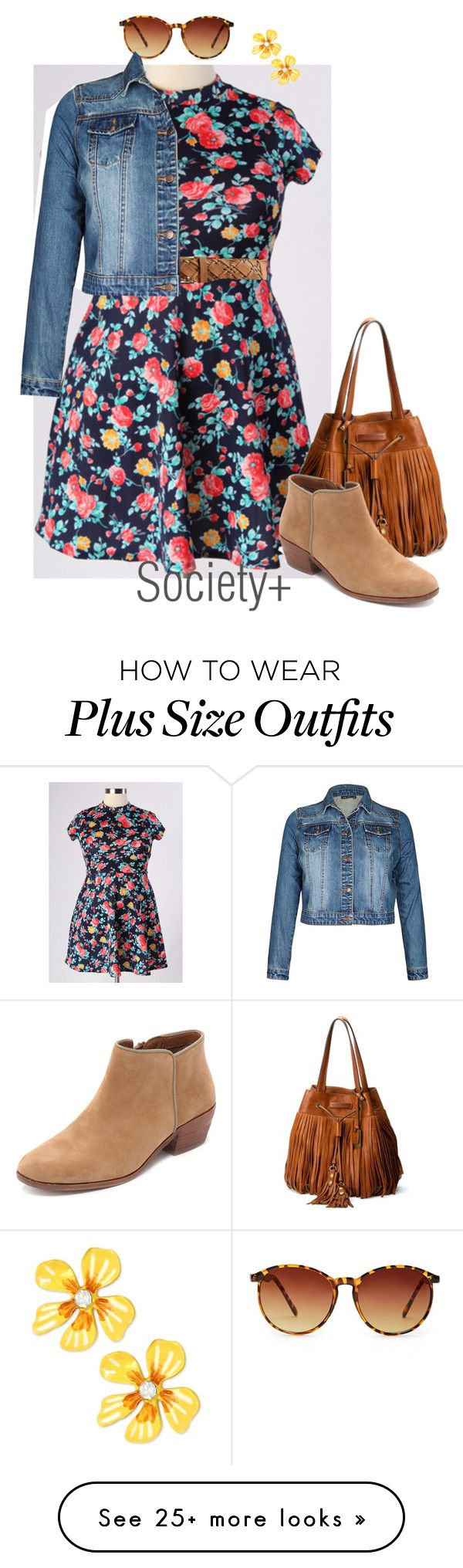 """""""Plus Size Floral Dress - Society+"""" by iamsocietyplus on Polyvore featuring Torrid, Forever 21, Frye, Sam Edelman, Betsey Johnson, plussize, plussizefashion, societyplus and iamsocietyplus"""