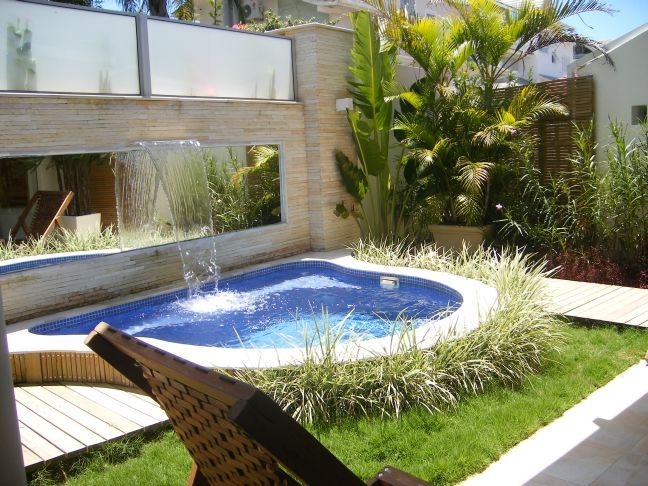 A small pool with waterfall can be very inexpensive, when being cool in the  summer. Backyards LatricedesignsBackyards ...