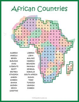 Reinforce knowledge and review the geography of Africa while having fun doing a…