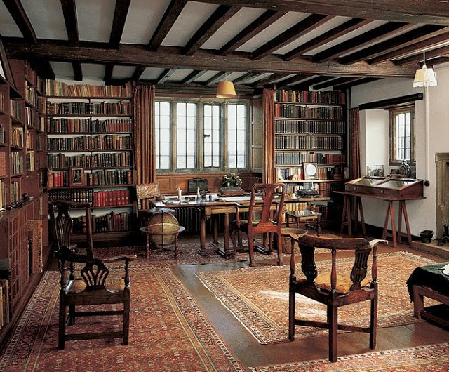 """Rudyard Kipling's study: """"The Nobel Prize-winning writer Rudyard Kipling's study at Bateman's, in England, where he moved in 1902. The surrounding Sussex countryside would become the backdrop for later works, including 'Puck of Pook's Hill' and 'Rewards and Fairies'."""""""