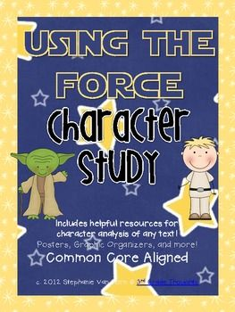"""Using the Force"" Star Wars Themed Character Study - 3rdGrThoughts - TeachersPayTeachers.com"