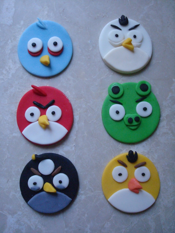 Angry Birds Cake Toppers Tutorial