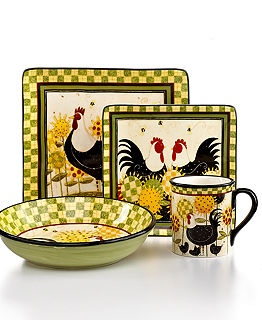 Certified International Dinnerware Oh Happy Day Collection - Dinnerware - Dining u0026 Entertaining - Macyu0027s  sc 1 st  Pinterest & Best 72 Chicken Dish Sets I Want images on Pinterest | Dish sets ...