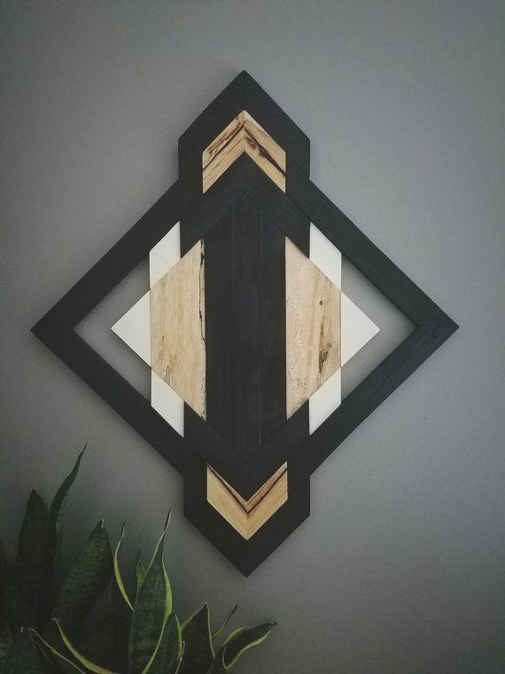 One of A Kind Wood Wall Art Reclaimed Wood Geometric ...