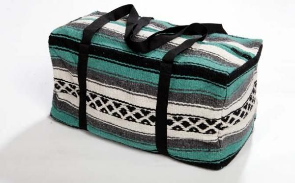 Our Falsa Blanket Duffel Bags are handwoven in the same designs as our traditional Falsa Blankets. Practical and economical, each bag measures approx. 18�x8�x8� El Paso Saddleblanket has the largest selection of Southwest accessories anywhere. All of our accessories are sold wholesale direct. With no middleman, we are able to give you the best prices. View our entire collection of purses and handbags by clicking Purses & Handbags or call us TOLL FREE at 1.800.998.8608 for personal ...