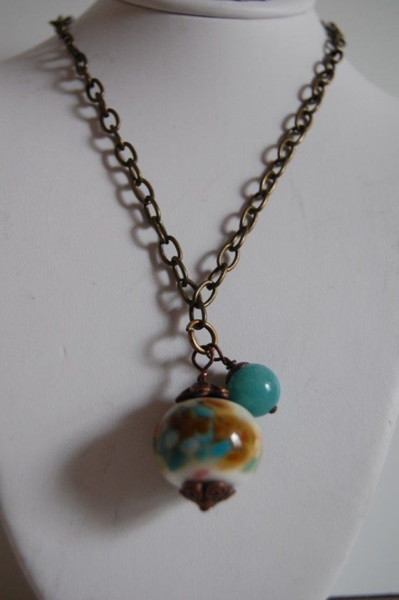 Shoply.com -Lampwork bead drop necklace. Only C$28.00