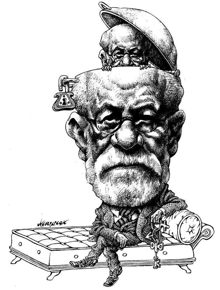 caricatura-de-sigmund-freud-2.JPG (1215×1600) | Psicologia ...