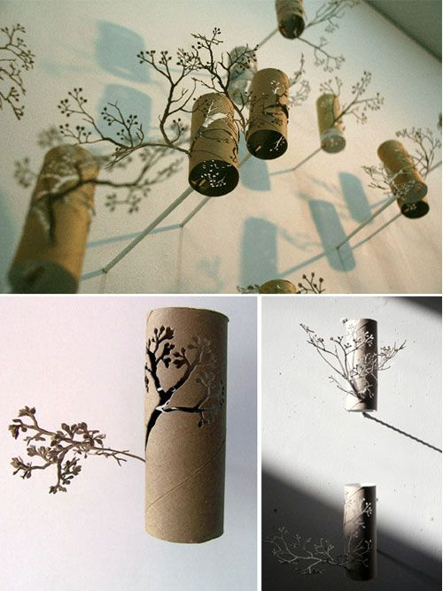 Toilet Paper Roll Paper sculpture from Yuken Teryua