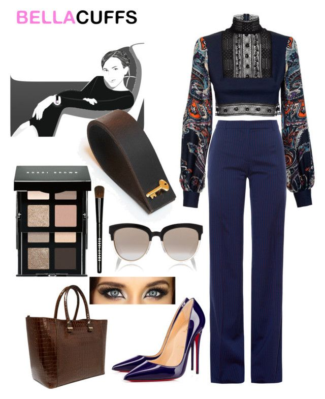 """Bella's Cuffs"" by mel-c-n ❤ liked on Polyvore featuring JIRI KALFAR, Altuzarra, Victoria Beckham, Christian Dior, Bobbi Brown Cosmetics, polyvorecontest, bellastreasure and bellascuffs"