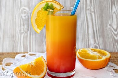 Di gotuje: Tequila Sunrise (drink z tequilą, sokiem pomarańcz...