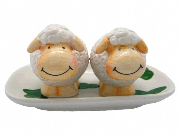 Collectible Salt And Pepper Shakers Happy Sheep U2013 GermanGiftOutlet.com .  Your Own Shaun Sheep