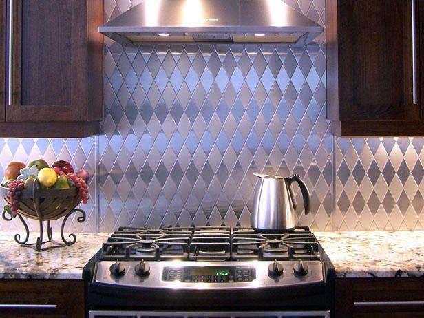 Harlequin Romance - 5 Stainless Steel Kitchen Backsplashes on HGTV