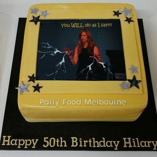 "(@party.food.melbourne) on Instagram: ""Happy 50th Hilary! Long story... #50thbirthdaycake #birthdaycakemelbourne #birthdaycake #customcake…"""