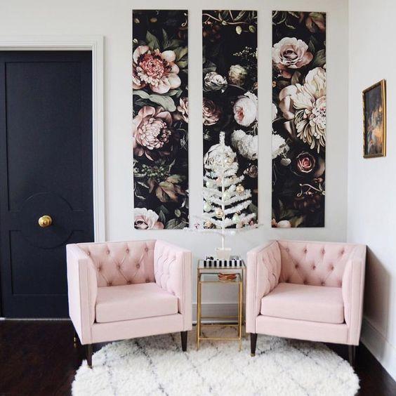 Dunkler Stoff gegen helle Wände und umgekehrt ist eine der besten Kombinationen …  #besten …
