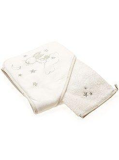 Garçon 0-24 mois Cape de bain et gant lapin  - Kiabi