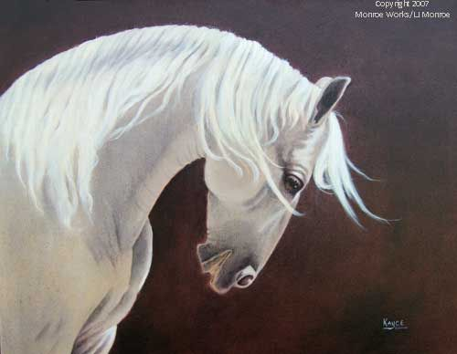 """Kayce  """"Conferring With The Moon""""   Acrylic on Canvas"""