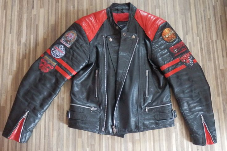 leather jacket lederjacke napalm death bemalt lackstift. Black Bedroom Furniture Sets. Home Design Ideas