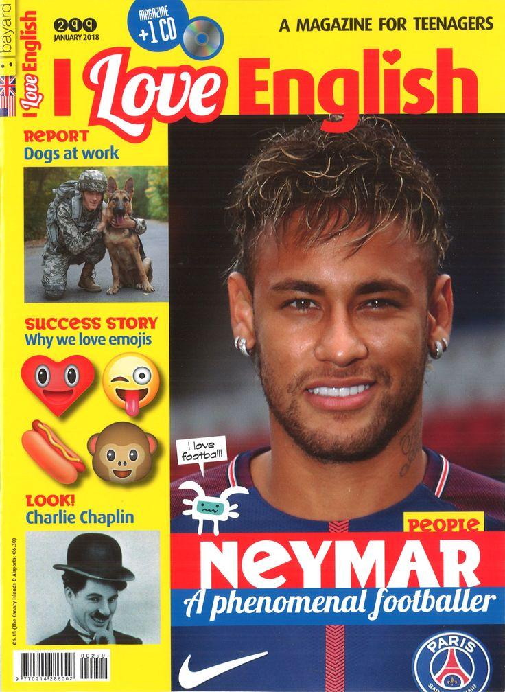I love English , a magazine for teenagers. N. 299 (January 2018)