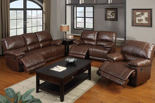 Details About Sofa Couch Leather Sofa 3 Piece Living Room Set Sofa Furniture F7091 Poundex