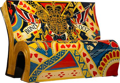Take a Seat: London's BookBenches Are All Kinds of Artistic Cool - James Bond bench