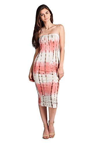 New Trending Formal Dresses: Emmalise Womens Tie Dye Tube Midi Dress(Pink Taupe-L). Emmalise Women's Tie Dye Tube Midi Dress(Pink Taupe-L)  Special Offer: $17.93  444 Reviews Look cute and sexy with this Emmalise Women's Tie Dye Tube Midi Dress. Exciting tie dye print, strapless sexy tube style, curve hugging fit, soft and stretchy fabric. You will love...