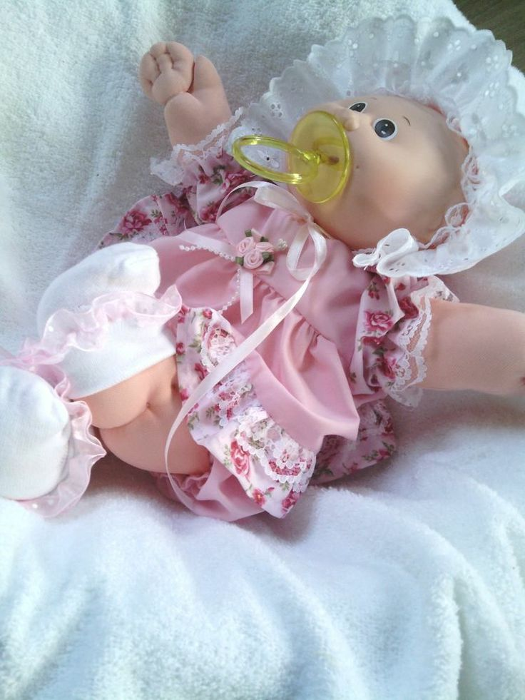 Lovely Bald Vintage Original Cabbage Patch Kids NEON Preemie baby girl Pacifier