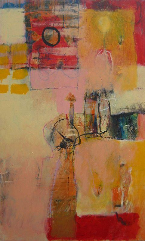 Maud Quaedvlieg . Between farewel and over 3. acrylics on canvas 100 x 160 cm 2005