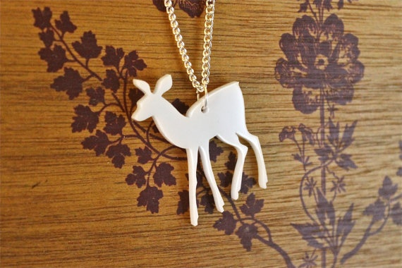 White Deer Necklace