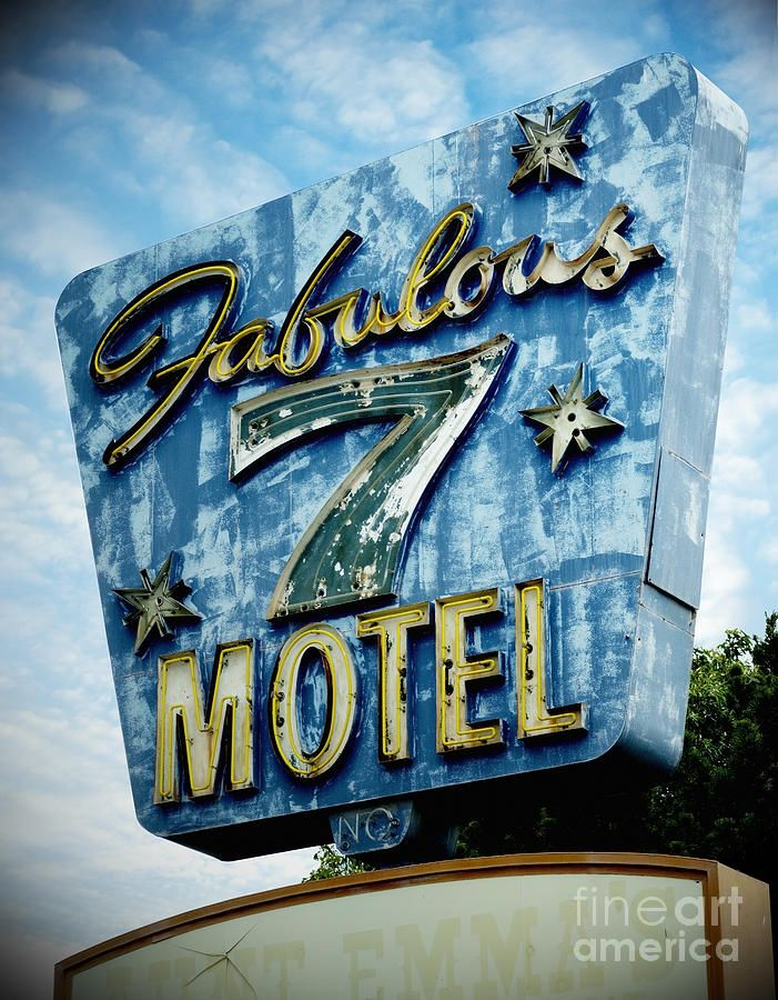 Classic Neon Motel Sign Photograph by Frank Short