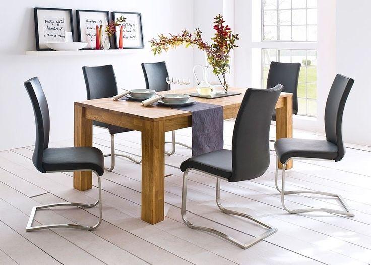 Esstisch stühle leder  Die besten 25+ Esstisch mit stühlen Ideen auf Pinterest ...