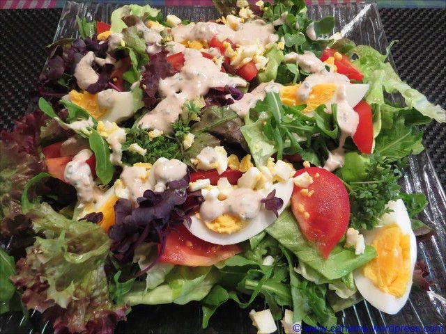 Sommersalat mit Thunfischdressing von cahama -  #Dressing, #Dressings, #Ei, #Salat, #Salate, #SalateDressings, #Thunfisch, #Tomate