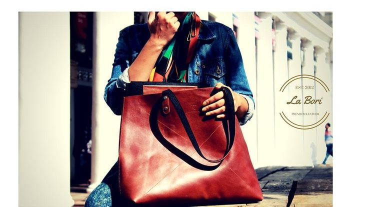 """""""I choose a leather bag over a leather skirt, after all, the bag is what I will be carrying it in."""" ~~ In words of our 'Leather Lover' Designer Chavi Mittal.  Introducing """"La Bori"""" collection from The Cobbleroad. A solidly built tote bag is an everyday staple. Day, night, travel, errands - the """"La Bori"""" Tote bag embodies utility. Buy It-http://goo.gl/1SbbUw #totebag #designerbag #AIFW #MAXIM #Sabyasachiofficial #models #GQ """