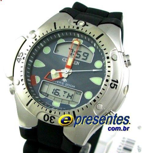 JP1060-01L Relógio Citizen Aqualand II Profundímetro e Alarmes