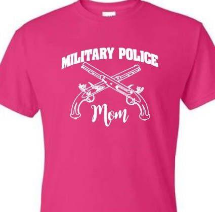 Military Police Mom tshirt. Gildan tshirt. Unisex Military shirt. Military Mom. Military Police. Army Strong. by ButlersCustomCrafts on Etsy