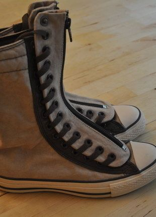 Kaufe meinen Artikel bei #Kleiderkreisel http://www.kleiderkreisel.de/damenschuhe/sonstiges/137367920-beige-braune-hightop-chucks-von-converse-styler-hipster