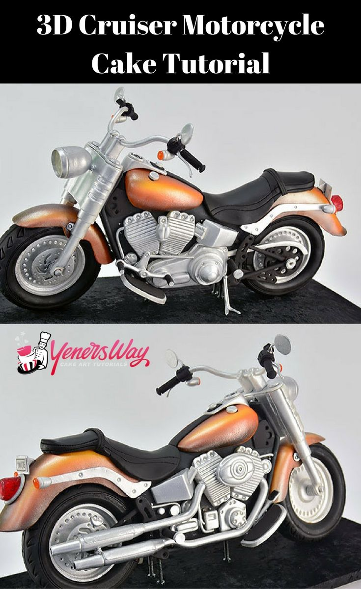 Wanna learn how to make this 3D Motor Bike Cake??? The details on this tutorial are amazing  #cake #car #howto #motorbike #cake #tutorial